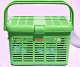 Stylish Pet Cat Carriers Easy Open Wide Top Load Door Fully Assembled Easily Place and See Cats Dogs Rabbit Small Animals inside 16x11.63x10.25 Free Soft Fur Mat (Green)
