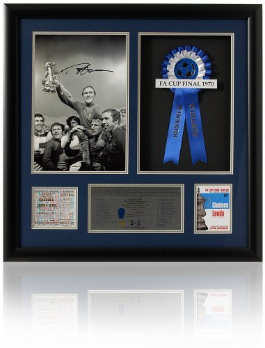 Chelsea 1970 Fa Cup - Large Ron Harris hand signed Chelsea 1970 FA Cup final presentation (LOT617)