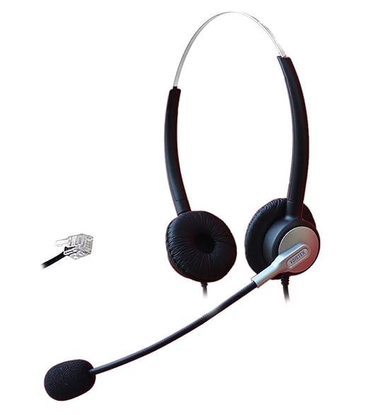 Comdio Corded Call Center Telephone Headset Headphone with