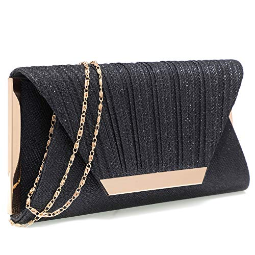 - Black clutch purses for women evening bags and clutches for women evening bag purses and handbags evening clutch purse(Black)