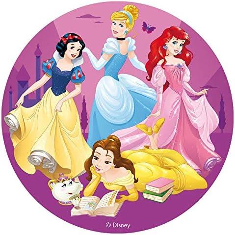 Disney Princess Round Edible Icing Cake Topper 16cm Licensed By Dekora Küche Haushalt