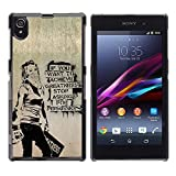 TopCaseStore / Snap On Hard Back Shell Rubber Case Protection Skin Cover - Greatness Motivational Quote Success Art Grafiti - Sony Xperia Z1 L39 C6902 C6903 C6906 C6916 C6943