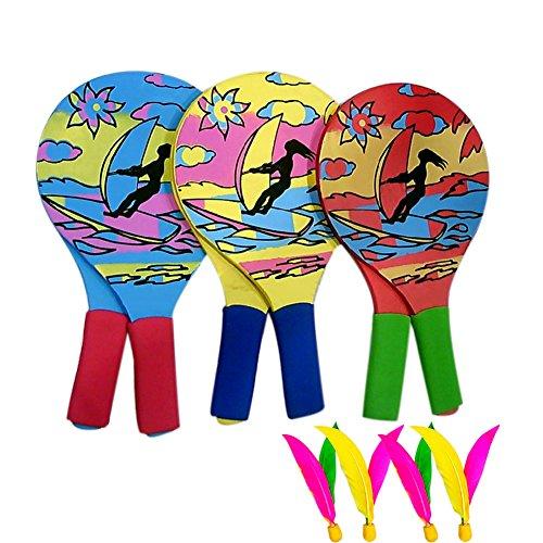 Adealink 2PCS/ pair Grip Cricket Tennis Rackets Beach Tennis Racket for outdoor Sport with 4pcs Cricket by Adealink