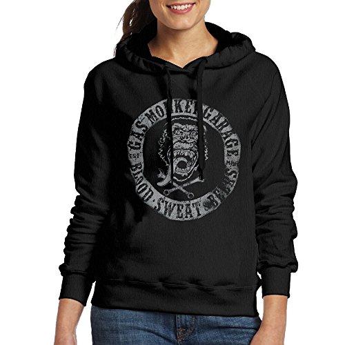 MUMB Women's Sweatshirt Gas Monkey Blood Size L Black