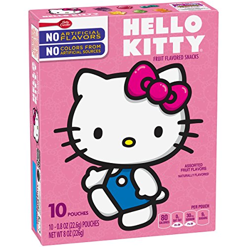 Betty Crocker Snacks Hello Kitty Fruit Flavored Snacks, 10 Count (Pack of 8)]()