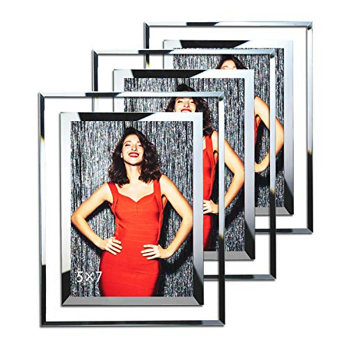 Frames 5x7 Picture Frame Wedding Glass Photo Frames - 3 Pack ()