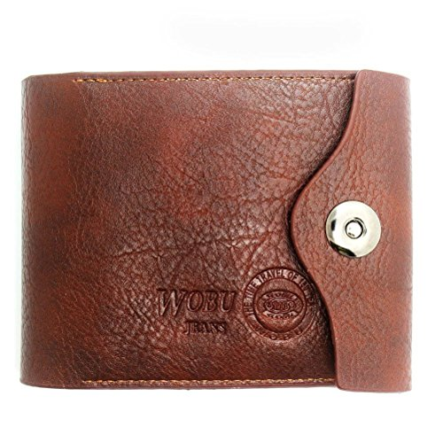 Rbenxia Mens Pu Leather Wallet Id Cards Coin Pocket Purse (Style 3)
