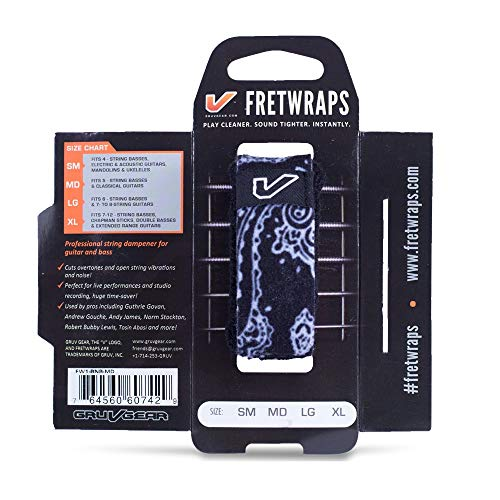 Gruv Gear Bandana FretWraps , Large, Black from Gruv Gear