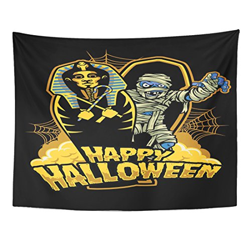 TOMPOP Tapestry Coffin Halloween Mummy Out from Sarcophagus