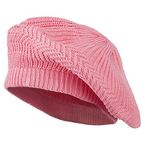 Cotton Rasta Tam Beret - Pink OSFM (Rasta Beret)