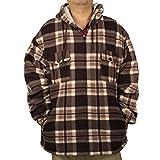 Winter Heavy Warm Sherpa Lined Fleece Plaid Flannel Jacket Men Plus Size S-5XL Big&Tall Mens Coat (Small, Brown)