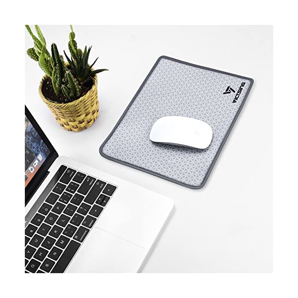 VicTsing Soft Mouse Pad, Premium-Textured Mouse Mat Pad with Stitched Edges, Non-Slip Rubber Base Mousepad for Laptop…
