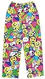 Emoji Pants for Kids iscream Big Girls Fun Print Silky Soft Plush Pants - Emoji Party, Medium