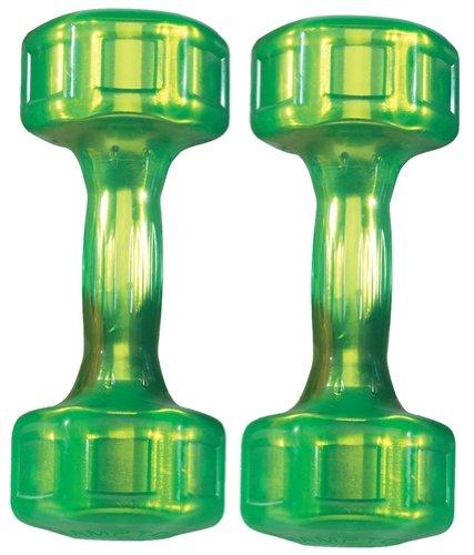 Hampton Fitness Jelly Bell Urethane-Coated 10 lb Green Dumbbell Pair