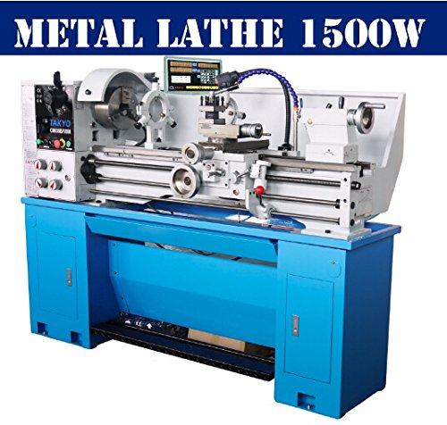 "BestEquip 14x40 Inch Metal Lathe 1500W 2"" Spindle Bore Bench Lathe Variable Spindle Speed Lathe Machine for Precision Parts Processing"