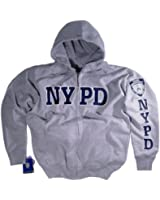NYPD Shirt Hoodie Sweatshirt Authentic Clothing Apparel Officially Licensed Merchandise by The New York City Police Department Gray