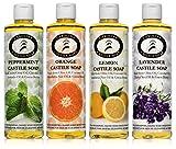 Cheap Castile Soap Variety 4 Pack – Carolina Castile Soap (Lemon Orange Peppermint & Lavender, 16 oz)