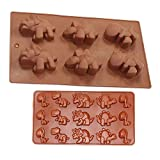 Combo 2 pack molds Small and Large Dinosaur Silicone Cake, Ice Cube ,Chocolate