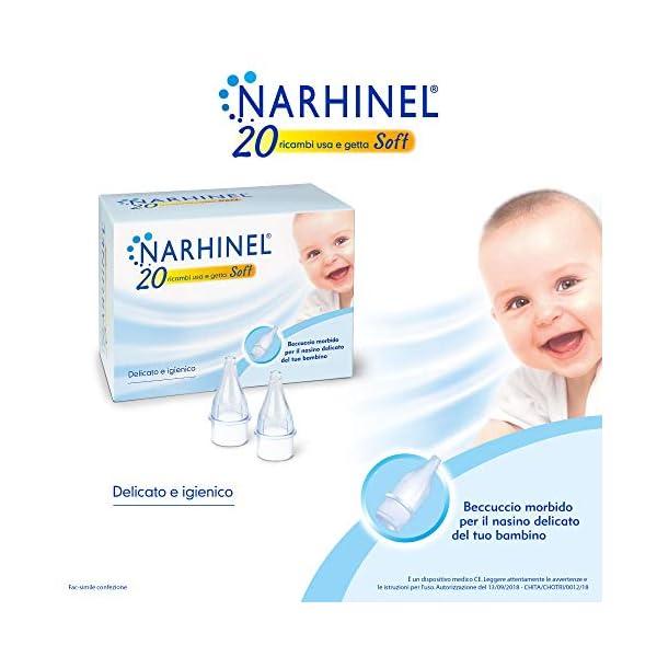 NARHINEL 20 Ricambi Usa e Getta Soft in Plastica Morbida, con Filtro Assorbente, per Trattenere il Muco ed Aiutare a… 2