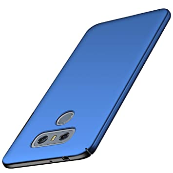 ORNARTO Funda LG G6, LG G6 Carcasa [Ultra-Delgado] [Ligera] Mate Anti-arañazos y Antideslizante Protectora Sedoso Caso para LG G6 (2017) 5.7Azul