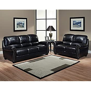 Italian Leather Sofa And Loveseat 2 Piece Living Room Set Chair Office  Furniture Or Patio Bed Part 93