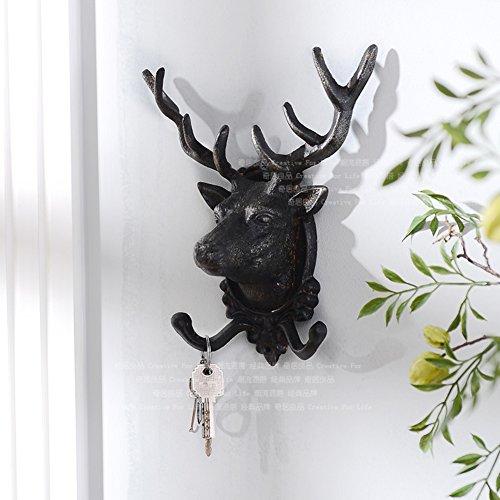 Decorative Wall Hanging/ Wall/Deer Head Coat Cap Hook-B by LWZY Clothes hook