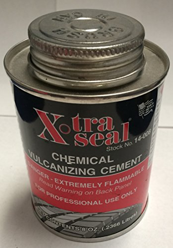 - Chemical Vulcanizing Cement X-tra Seal Tire Tube Patch 8 Oz (0.2366 Liters)