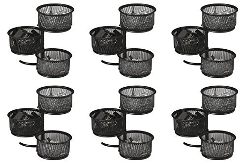 - Rolodex Mesh Collection 3-Tier Swivel Tower Sorter, Black, 6 Packs