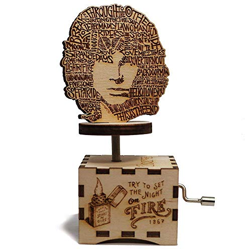 (The Doors Music Box - Light My Fire - Personalized engraved gift. Hand cranked mechanism.)