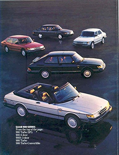 Amazon.com: 1987 Saab 900 & Turbo 9000 & Turbo Sales Brochure: Entertainment Collectibles