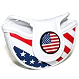 Craftsman Golf Stars and Stripes USA AMERICA FLAG Mid Mallet Putter Cover Half-Mallet Headcover For Scotty Cameron Odyssey Taylormade Rossa Midsize Putter (For a Heel / Offset-shafted putter)