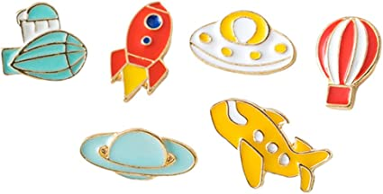 Amosfun 6 piezas broche espacial alfileres de solapa de ...
