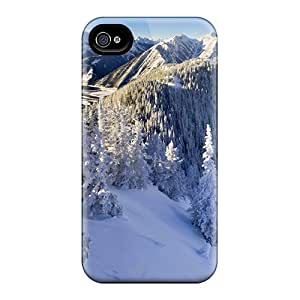KellyMeeks ZYOupnd3165hZXiV Case Cover Skin For Iphone 4/4s (winter Peaks)