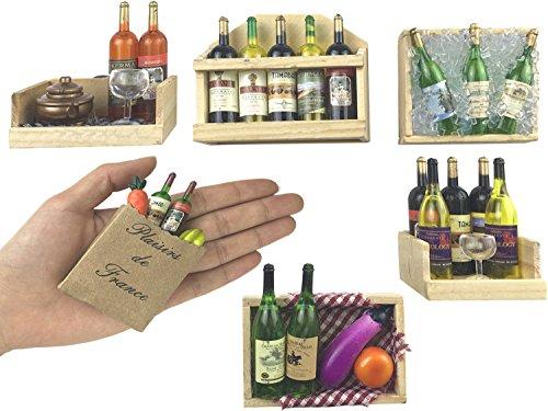 Fridge Magnets, Wine Bottles Series Refrigerator Magnets,Set of 6, Door Magnets, Wall Magnets by DIYBOTTLE