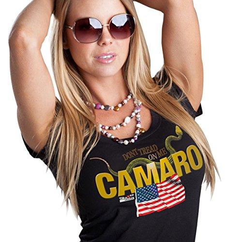 Women's Camaro - Don't Tread on Me (4) T-Shirt - Black Large