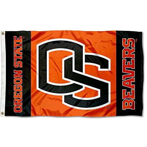 (College Flags and Banners Co. Oregon State OSU Beavers Flag Large 3x5 )