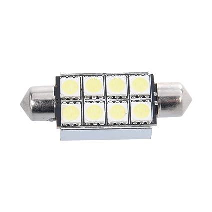 Sonline 42mm 8 SMD 5050 LED Blanco Numero de Canbus c5w luz de la placa del adorno de la boveda del bulbo de 12V