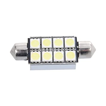 Sonline 42mm 8 SMD 5050 LED Blanco Numero de Canbus c5w luz de la placa del adorno de la boveda del bulbo de 12V: Amazon.es: Coche y moto