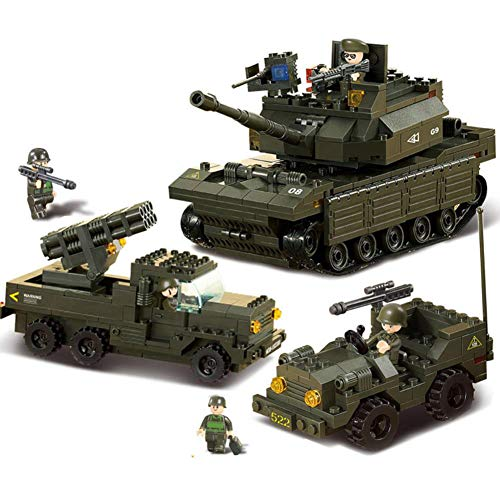 VSG-UF Compatibleed Military Headquarters A Transport Ww2 Tank Armored Vehicle Building Blocks Boys Child Toys World War 1 2 Sets
