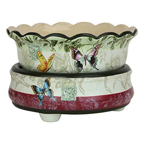 Ceramic Stoneware Electric 2 in 1 Candle Warmer (Butterfly)