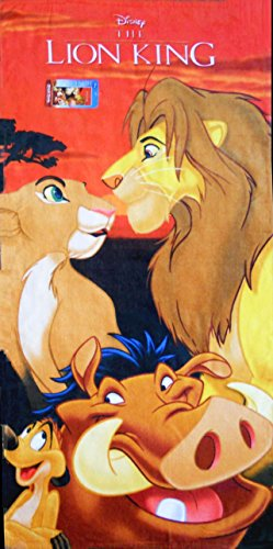 Lion King Beach Towel dimensions are 28 x 58 inches