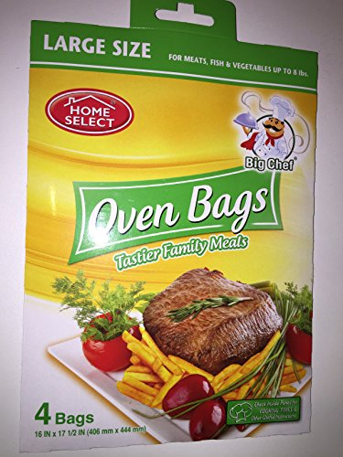 Home Select Oven Bags Large Size  4 Bags; for Meats, Fish &
