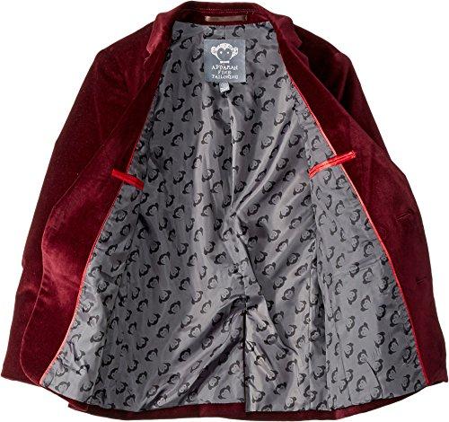 Appaman Kids Baby Boy's Two-Piece Velvet MOD Suit (Toddler/Little Kids/Big Kids) Tibetan Red Velvet 3 by Appaman Kids (Image #1)
