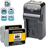 Baxxtar RAZER 600 Ladegerät 5 in 1 + 2x Patona Akku für -- Canon NB-13L -- passend zu Canon PowerShot SX730 SX740 HS usw. (100% mehr Flexibilität) NEUHEIT mit MicroUSB Eingang und USB-Ausgang, zum Laden eines Drittgerätes (iPhone, Smartphone ...)