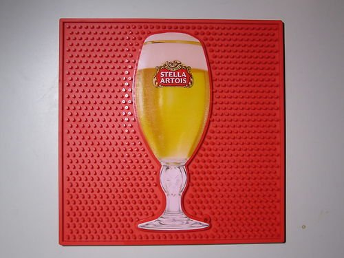Stella Square - Stella Artois Chalice Waitstation XL Square Bar Mat