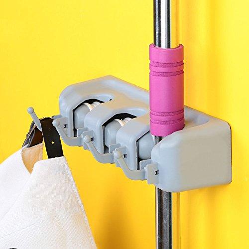 Agordo Plastic Swob Holder Rack Multi Purpose Bathing Towel Home Toilet Hooks Hanging by Agordo