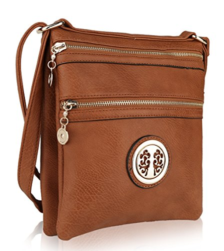 Double Sided Crossbody Bag Mkf Collection Designer Crossbody Bags By Mia K Farrow  Cognac Brown