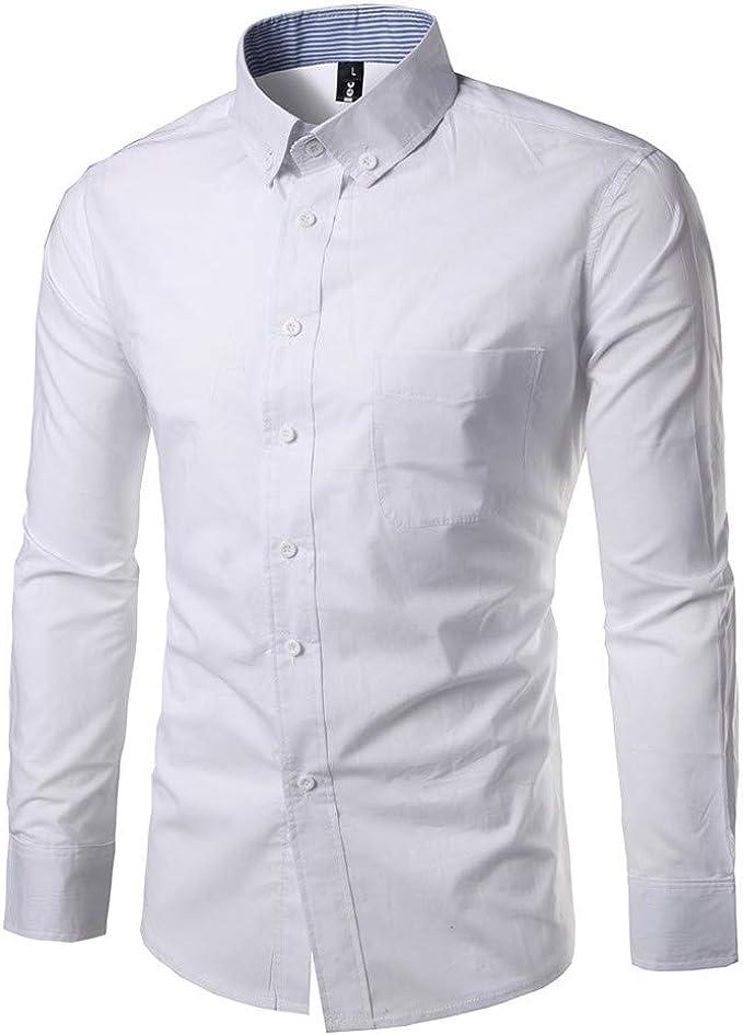 Aiserkly - Camiseta de Manga Larga para Hombre, diseño de Botones ...