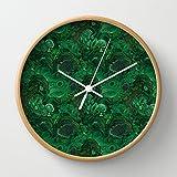Society6 - Malachite Wall Clock by Ravynka