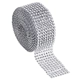 cloth diaper sewing supplies - Outus 8 Row 5 Yard Acrylic Rhinestone Diamond Ribbon for Wedding Cakes, Birthday Decorations, Baby Shower Events and Arts and Crafts Projects (Silver)